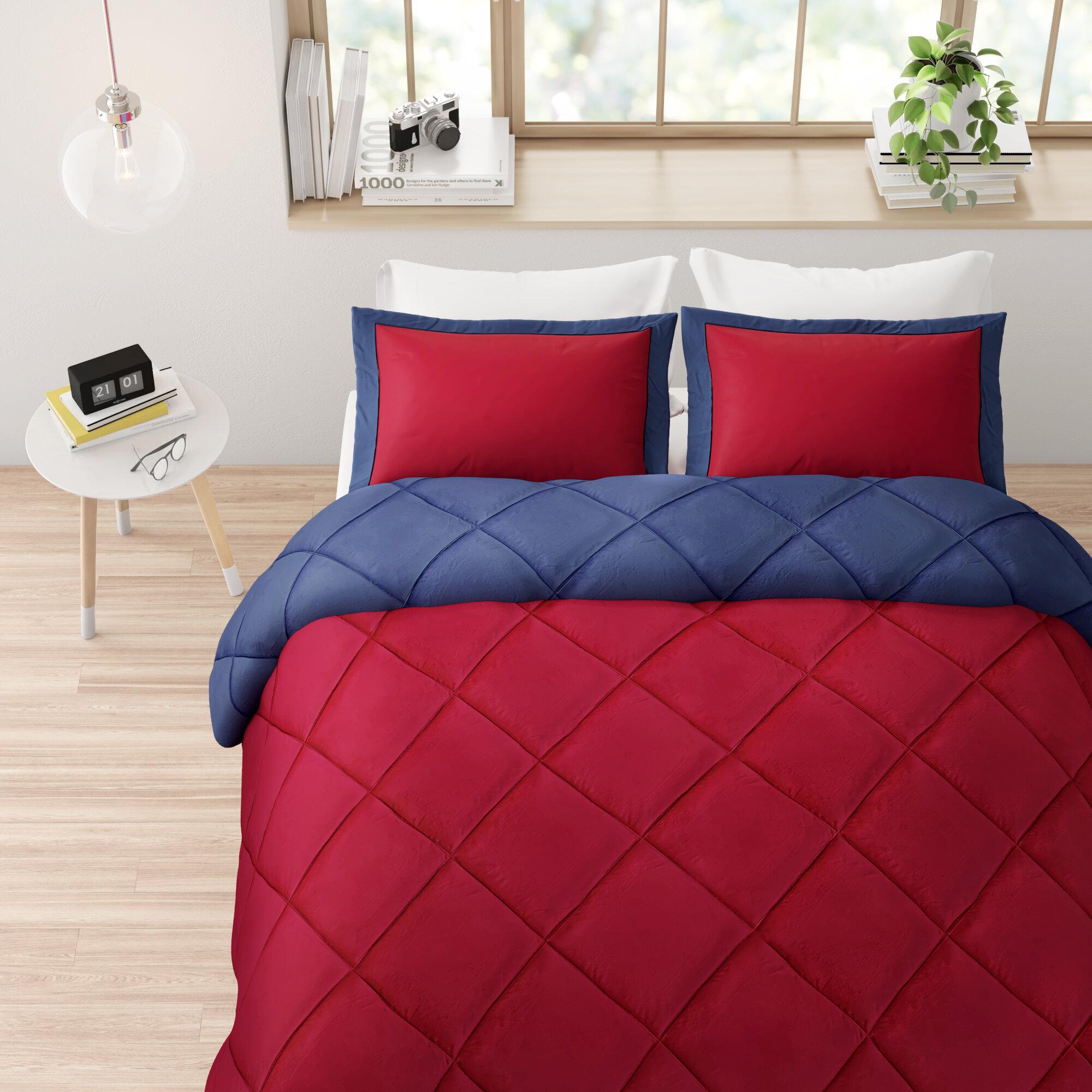 Ebern Designs Boivin Reversible Comforter Set Reviews Wayfair