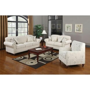 Alcott Hill Hearon 3 Piece Living Room Set