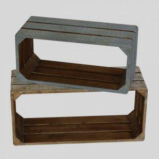 Rosecliff Heights Croker Wooden 2 Piece Wall Shelf Set