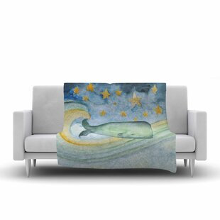 Jennifer Rizzo Swimming with the Stars Illustration Animals Fleece Blanket ByEast Urban Home