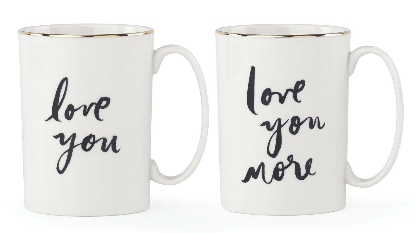 Kate Spade New York 2-Piece Bridal Party Mug Set
