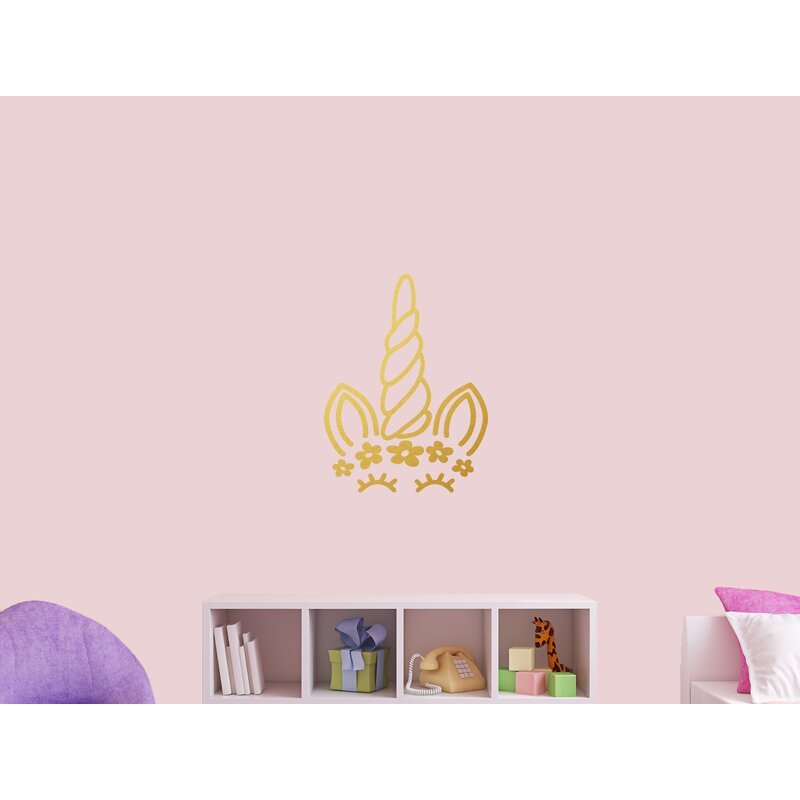 Isabelle Max Unicorn Face Silhouette Wall Decal Wayfair