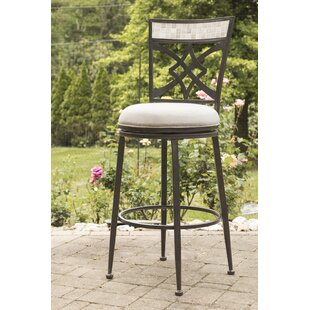 Hubbard 26 Swivel Indoor/Outdoor Patio Bar Stool Red Barrel Studio