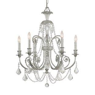 House of Hampton Frida 6-Light Candle Style Chandelier