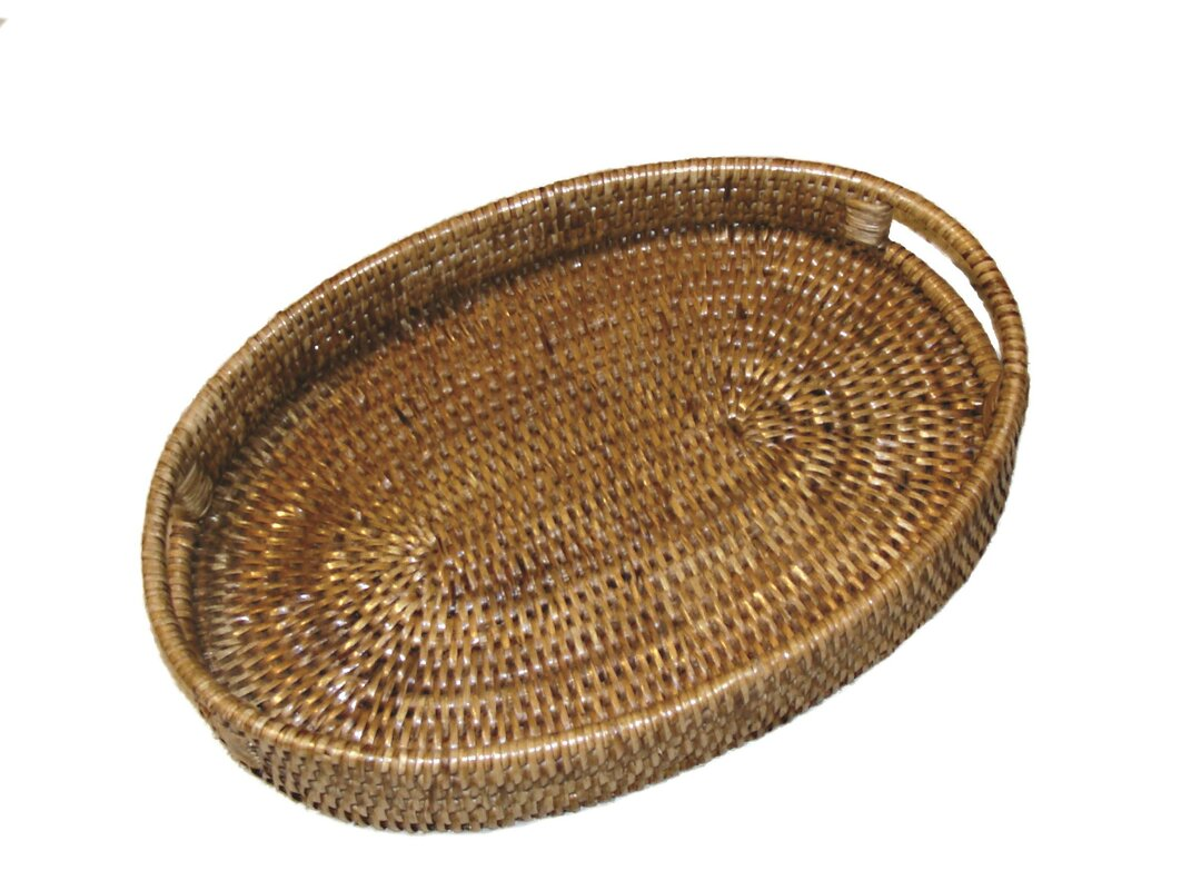 Rattan Oval Tray With Cutout Handles Nice Ideas