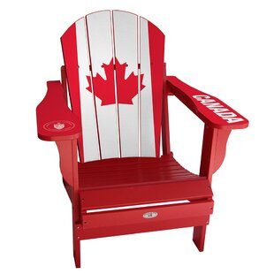 My Custom Sports Chair Flag Plastic Folding Adirondack Chair
