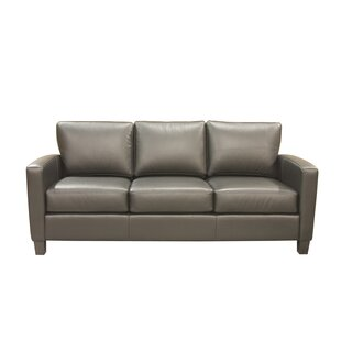 Suzanna Leather Sofa by Latitude Run