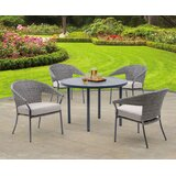 Alyse Woven 5 Piece Dining Set with Cushions