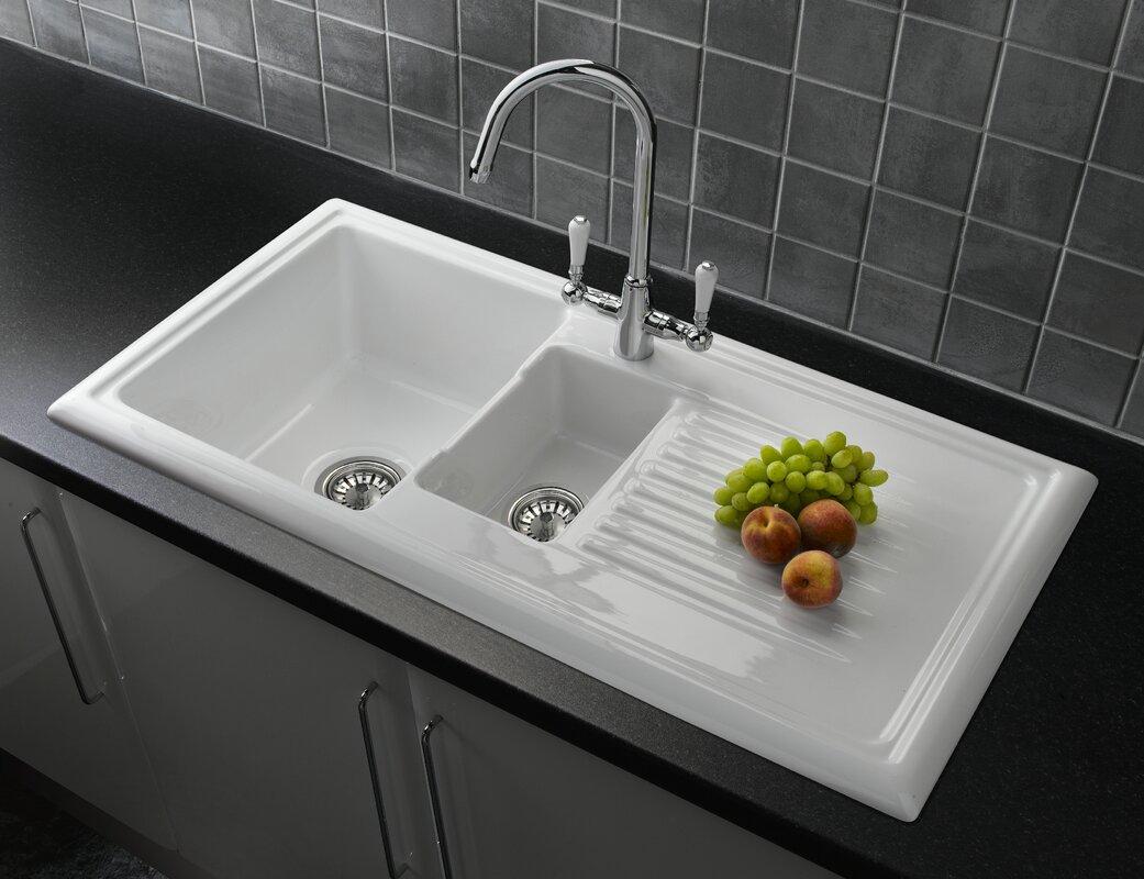Inset Kitchen Sinks Reginox 101cm x 525cm bowl inset kitchen sink with waste reviews 101cm x 525cm bowl inset kitchen sink with waste workwithnaturefo