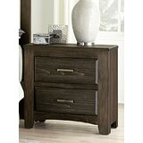 Hernandez 2 Drawer Nightstand