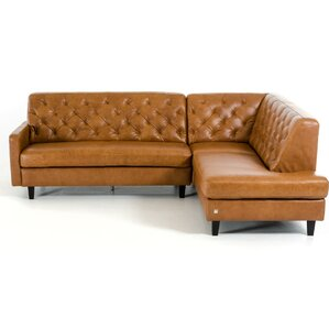 Monroe Leather Modular Sectional by 17 Stories