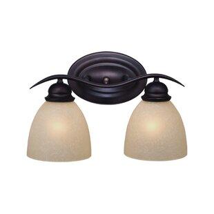 Savings Bourbon 2-Light Vanity Light By Andover Mills