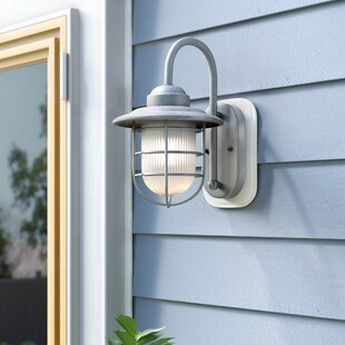 Inexpensive Fitzhugh 1-Light Outdoor Wall Lantern By Andover Mills
