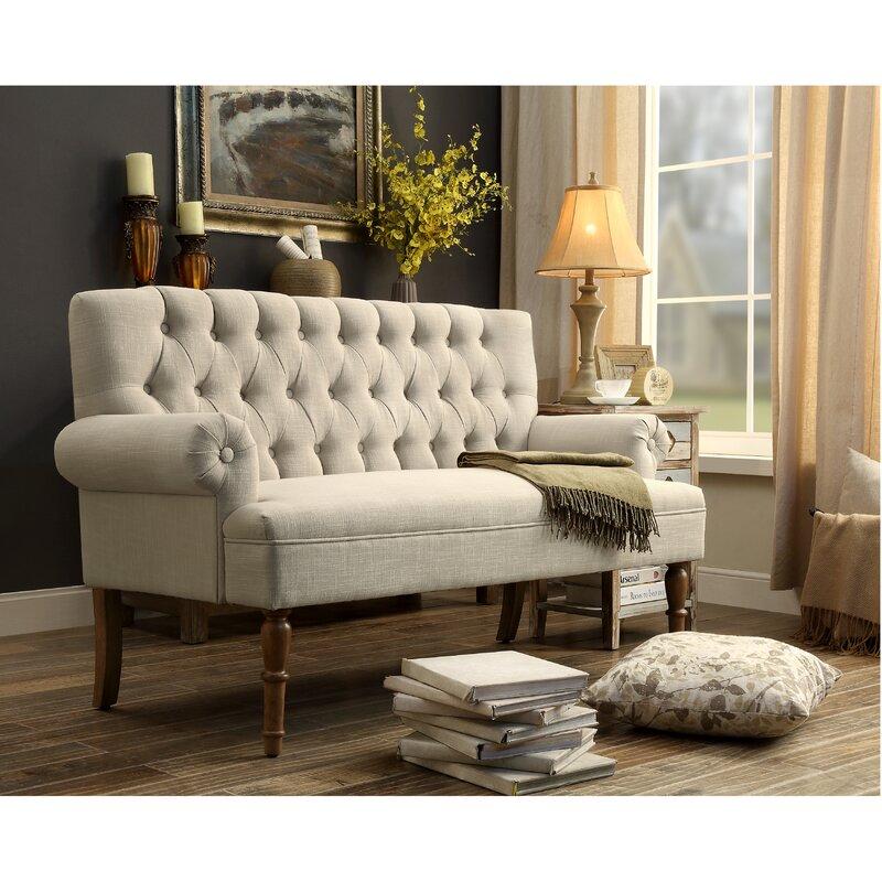 Charlton Home Buxton Tufted Upholstered SofaSettee Reviews - Tufted upholstered sofa
