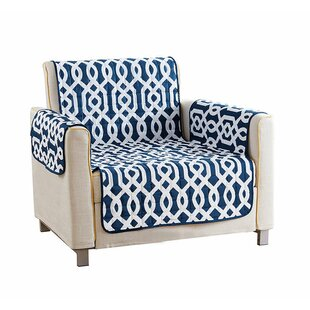 Reversible Waterproof Microfiber T-cushion Armchair Slipcover