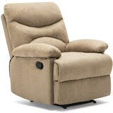 Baggusingh Manual Recliner with Massage and Heating by Latitude Run®