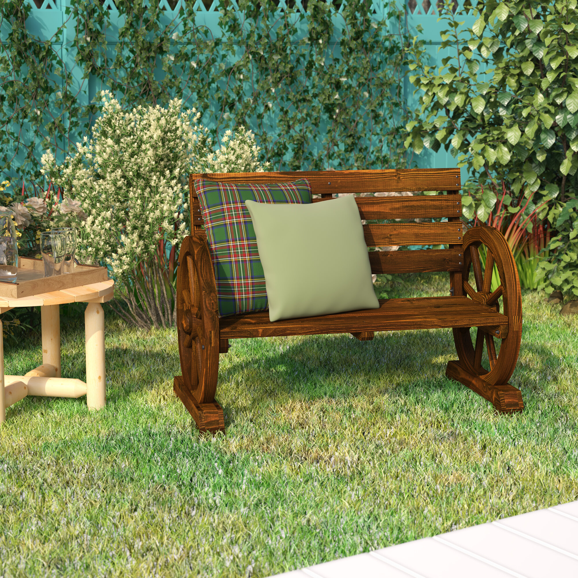 Loon Peak Ketcha Wood Garden Bench Reviews Wayfair