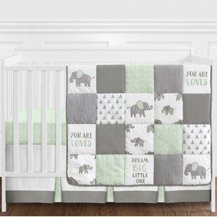 Best Reviews Elephant 4 Piece Crib Bedding Set BySweet Jojo Designs