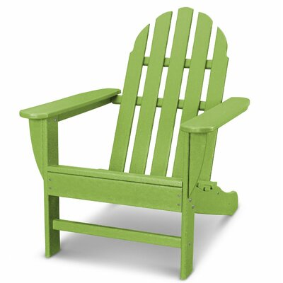 Classic Adirondack Chair Color: Lime