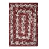 Reiban Ultra Durable Braided Red/Beige Indoor/Outdoor Area Rug by August Grove