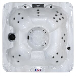 6-Person 30-Jet Spa with Backlit LED Waterfall
