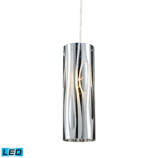 Orren Ellis David 1-Light LED Cylinder Pendant