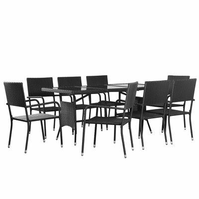 Neodesha Outdoor 9 Piece Dining Set by Latitude Run New
