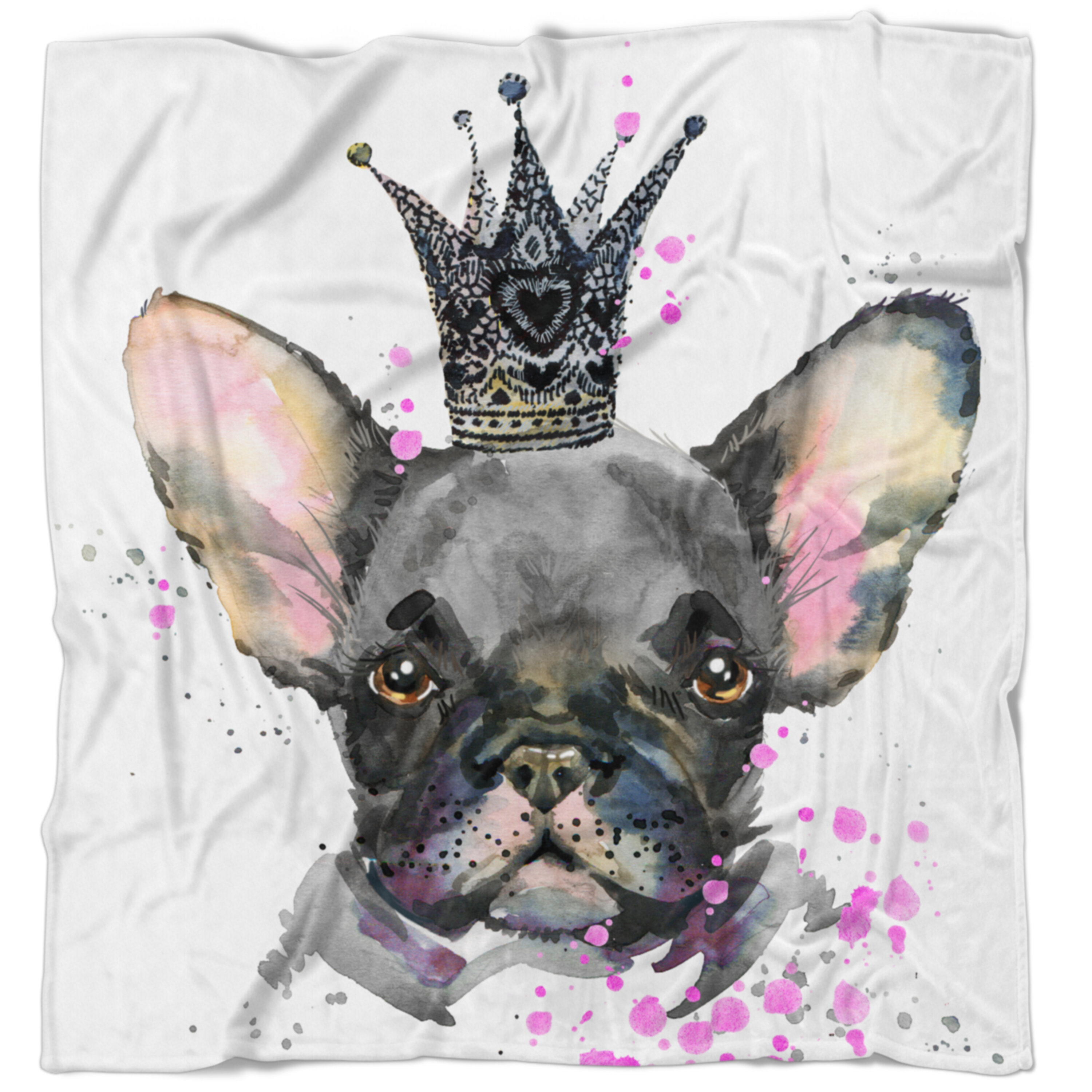 East Urban Home Animal Cute Dog With Crown Blanket Wayfair