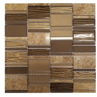 Loft Random Sized Marble and Glass Mosaic Tile