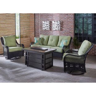 Albertson 4 Piece Seating Group with Cushions