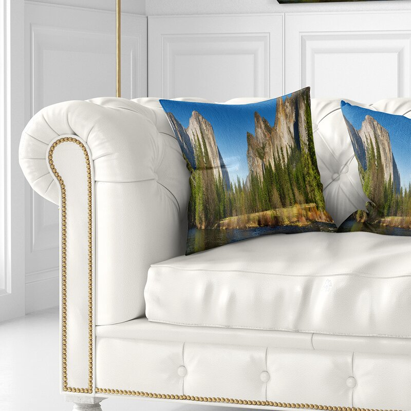 East Urban Home Landscape Printed Yosemite Valley Panorama Pillow Wayfair