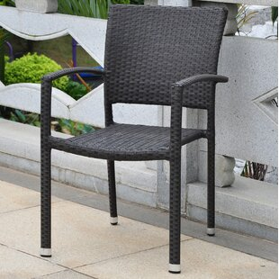 Katzer Stacking Patio Dining Chair (Set of 2)