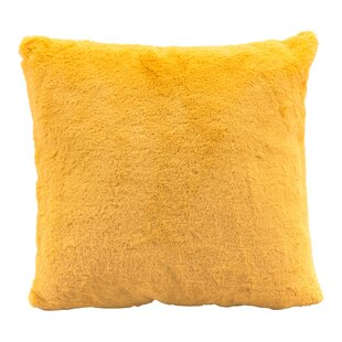 Eady Faux Fur Throw Pillow