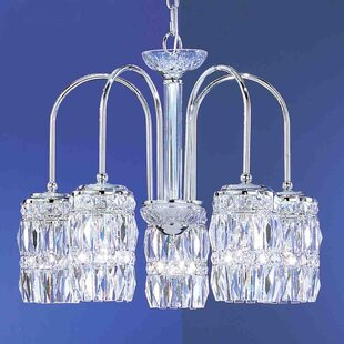 Classic Lighting Cascade 5-Light Shaded Chandelier
