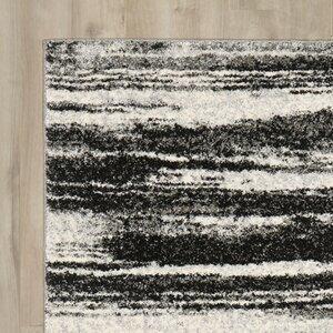 Aislinn Dark Grey / Light Grey Area Rug