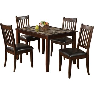 Harvest Moon 5 Piece Solid Wood Dining Set