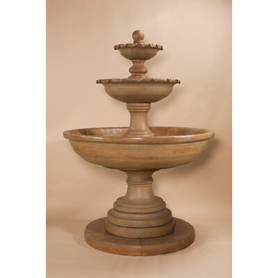Giannini Garden Ornaments Porta Elisa Concrete 3 Tier Fountain