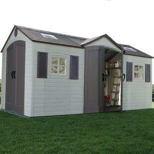 15 Ft. W X 8 Ft. D Apex Plastic Shed By Lifetime