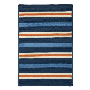 Painter Set Sail Braided Blue Indoor/Outdoor Area Rug