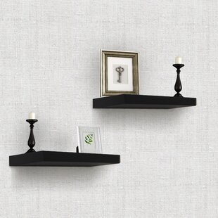 Searching for Heszler Floating Shelf (Set of 2) By Ebern Designs