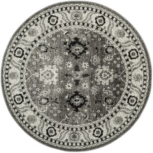 Logan Hamadan Gray/Black Area Rug by Bungalow Rose