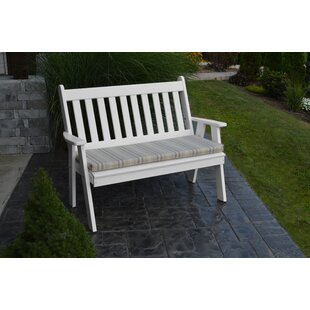 Spero Traditional English Plastic Garden Bench by Red Barrel Studio