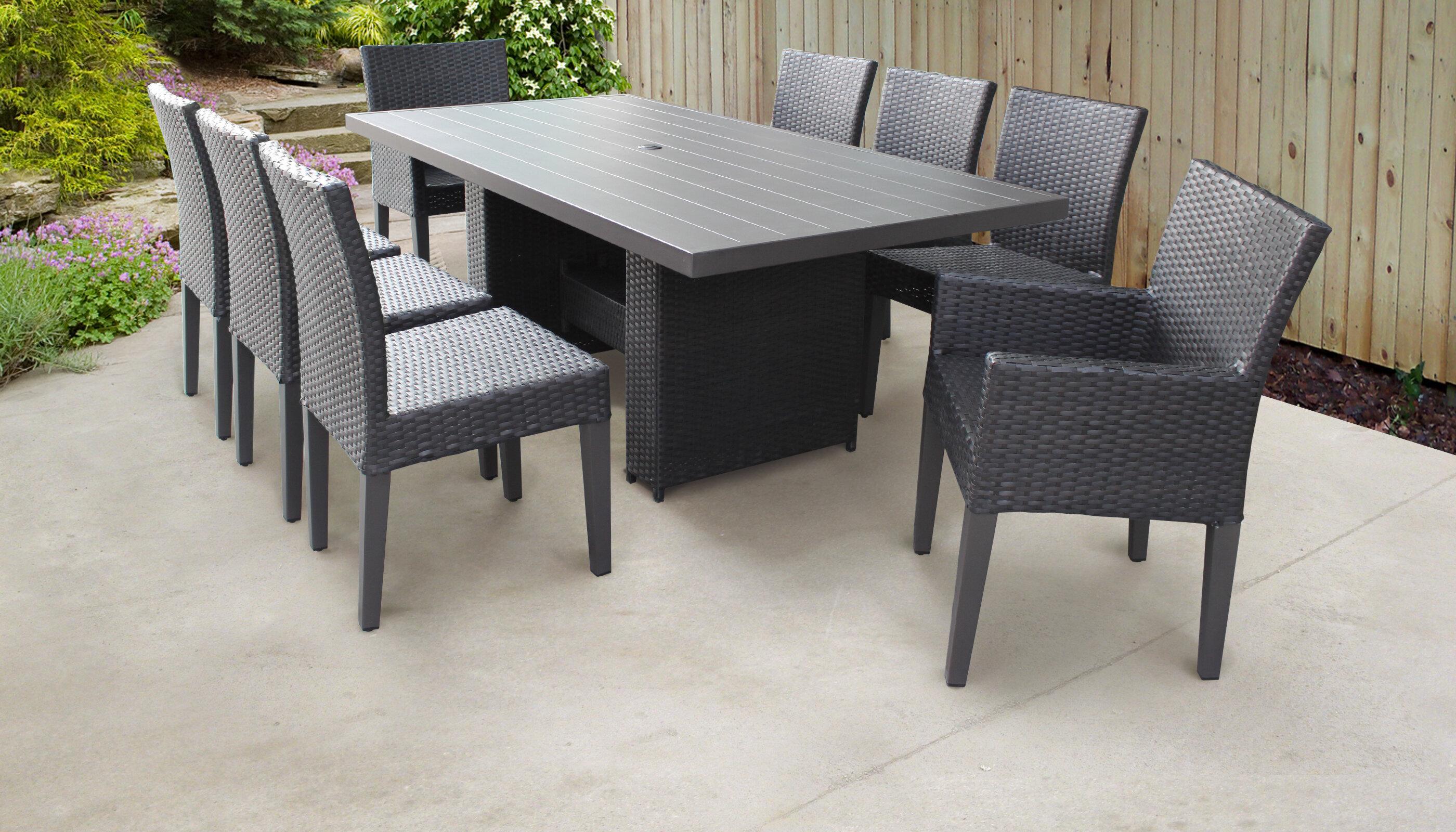 Tk classics belle 9 piece outdoor patio dining set wayfair