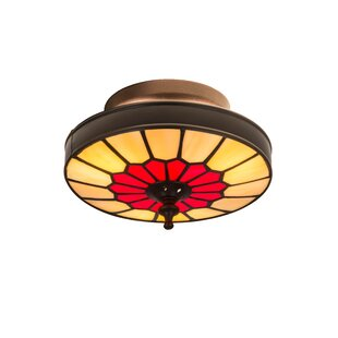 Meyda Tiffany Vincent Honeycomb 3-Light Flush Mount