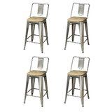 Okolona Middle Back Metal 24 Bar Stool (Set of 4) by 17 Stories