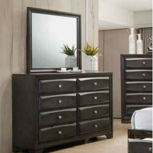 Latitude Run Younger 8 Drawer Double Dresser with Mirror
