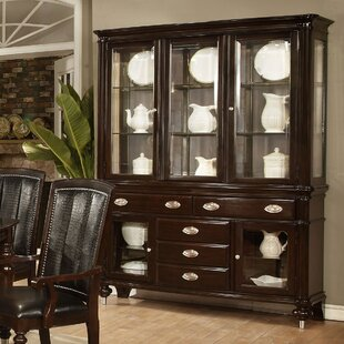 Balmers Lighted China Cabinet by Astoria Grand