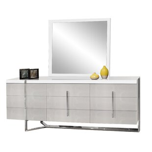 Best Deals Ashmore 9 Drawer Double Dresser with Mirror by Orren Ellis