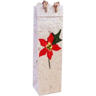 Poinsettia Single Bottle Carrier