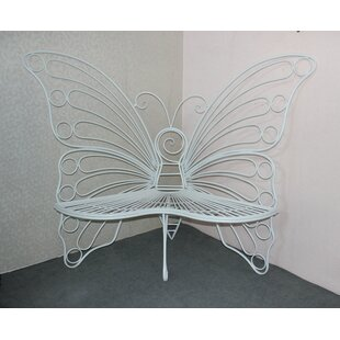 Balsam Butterfly Metal Garden Bench by Winston Porter Wonderful